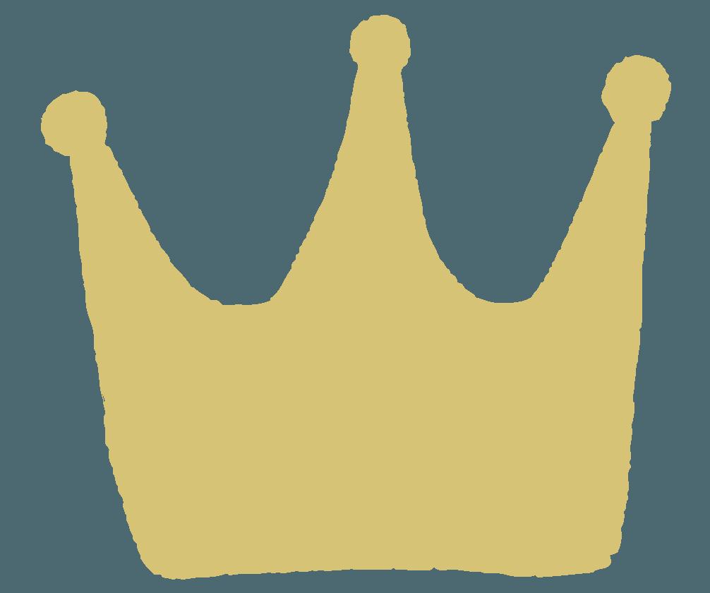手描きの王冠マークのイラスト