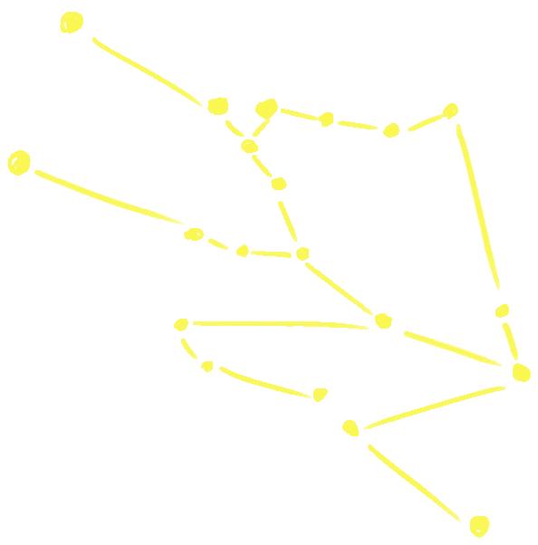 牡牛座の星図イラスト