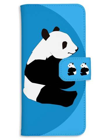可愛いパンダのスマホケース - 手帳型・iphone系も