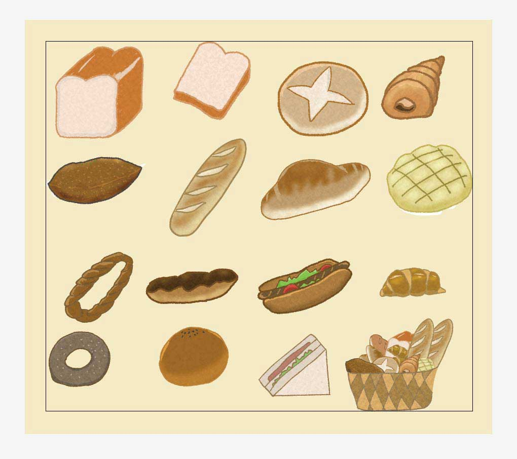 パンのベクターイラストセット