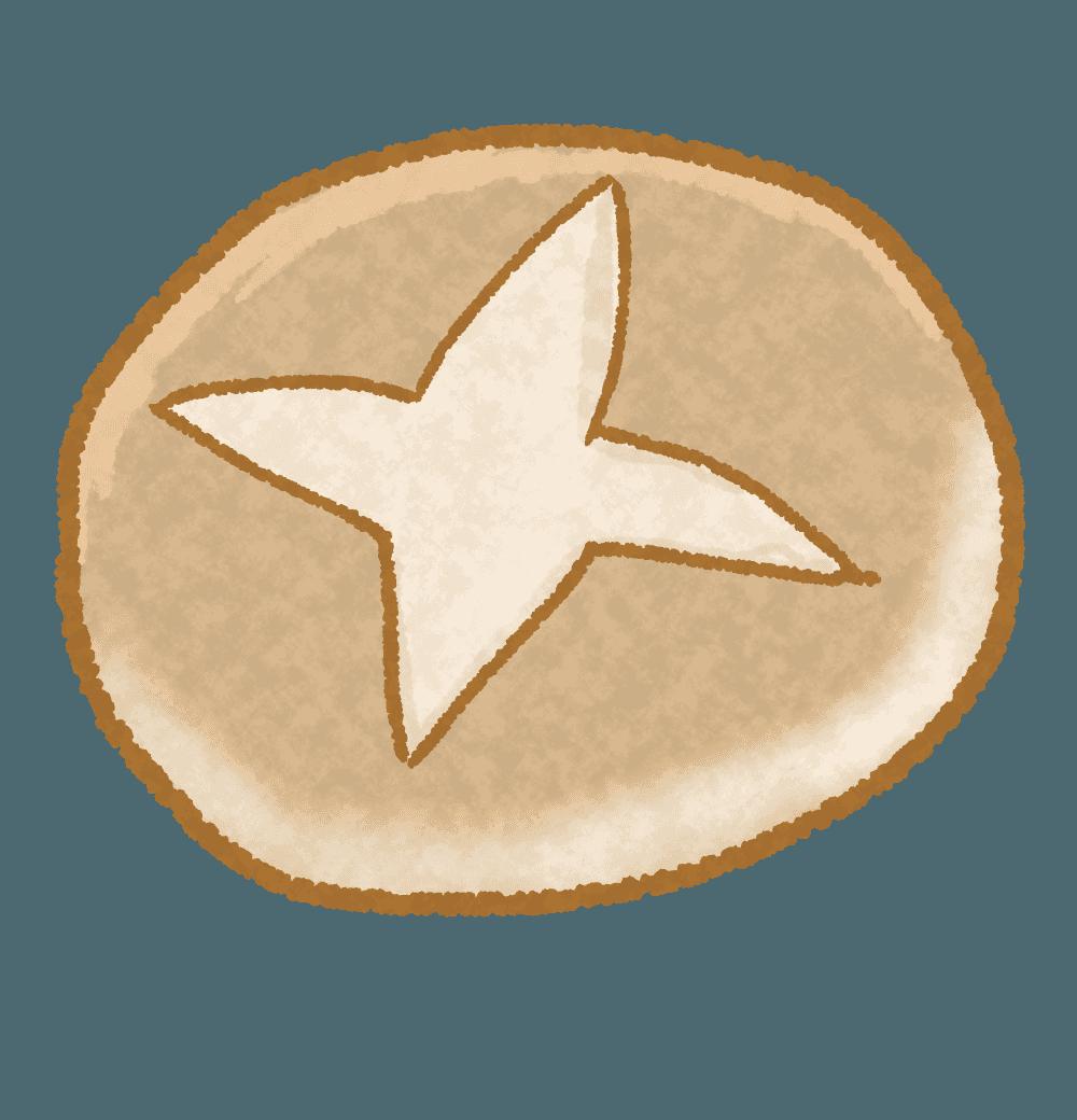 丸型フランスパンイラスト