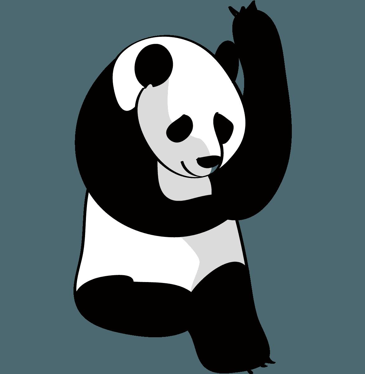 面白可愛いパンダのイラスト フリーキャラクター素材 チコデザ
