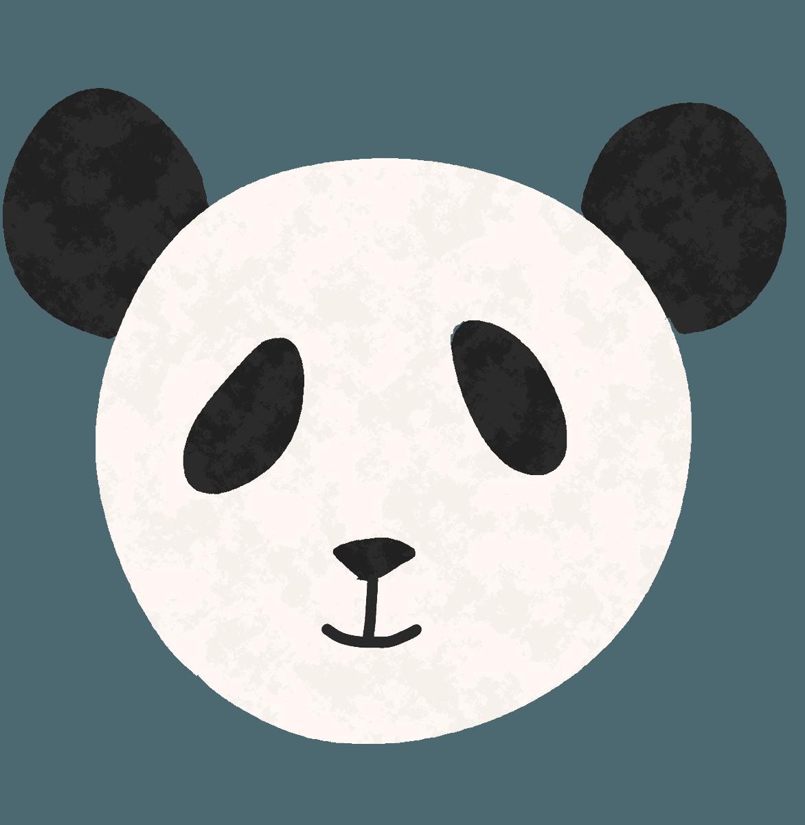 可愛いパンダの顔イラスト