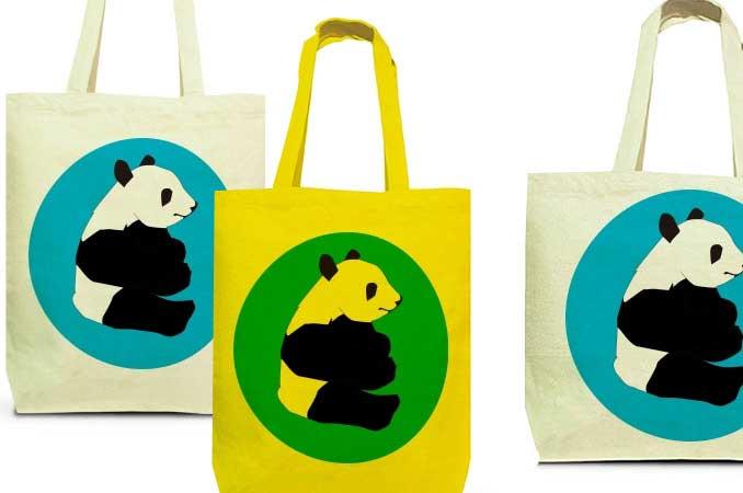 パンダパンダのトートバッグ