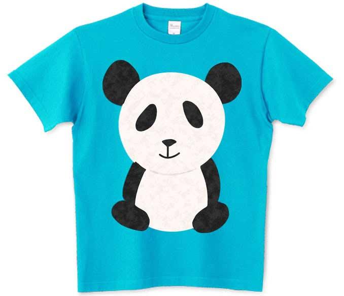 可愛い手描きのパンダTシャツ
