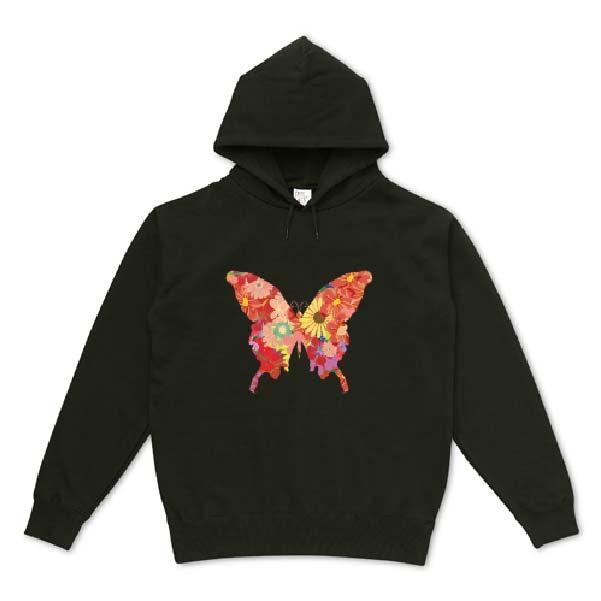 ボタニカル蝶々の可愛いパーカー