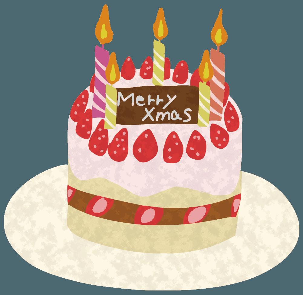 クリスマスパーティーのケーキイラスト