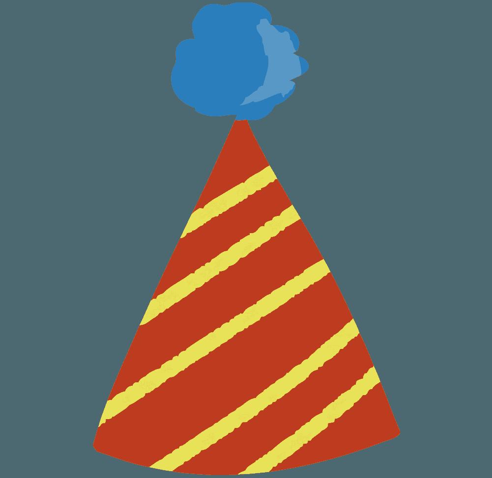 パーティーの可愛い三角帽子イラスト