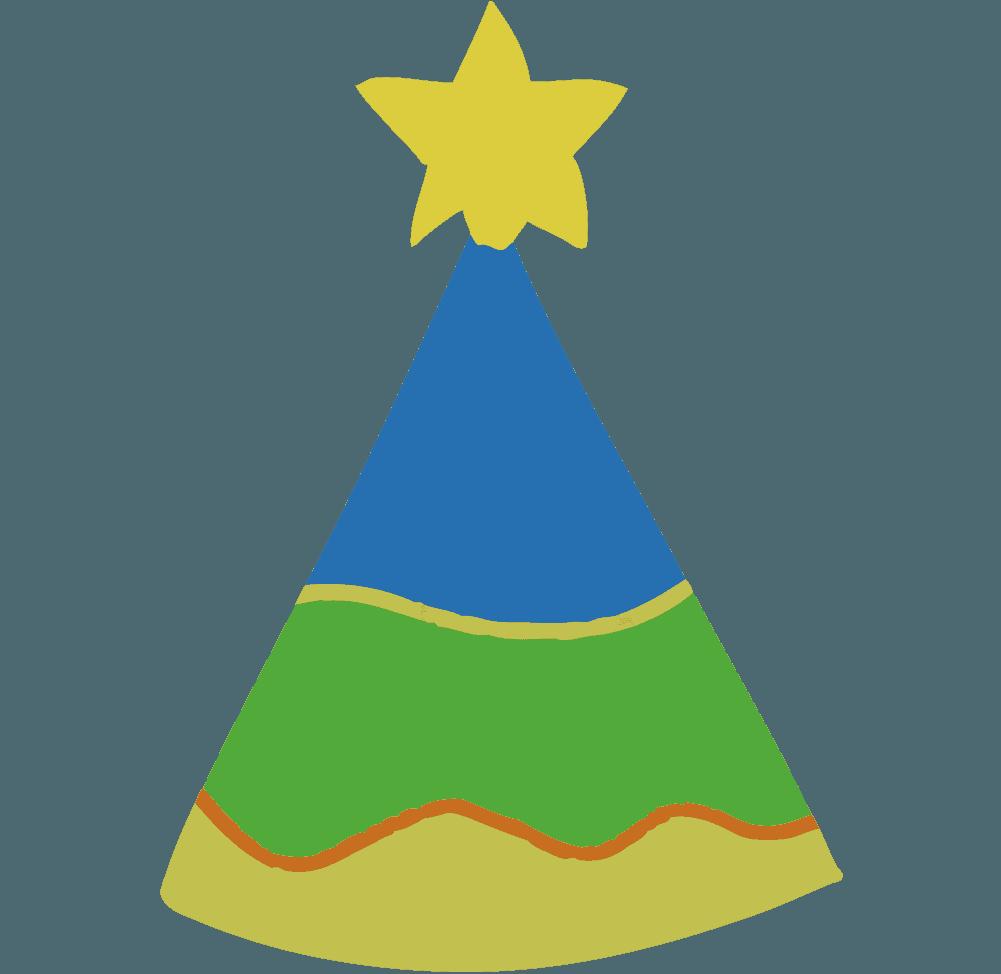 星がついた可愛いパーティー帽子のイラスト