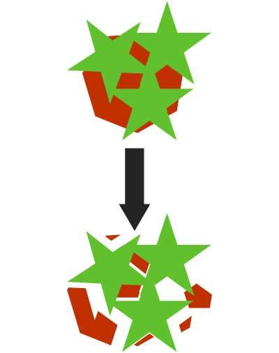 パスファインダー合流を実行した図