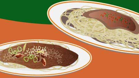 パスタのイラスト - 美味しいスパゲッティーの無料素材