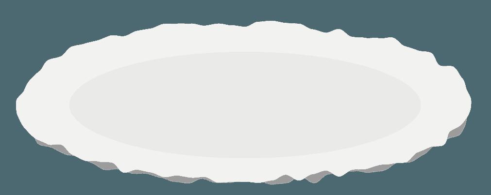パスタのお皿のイラスト