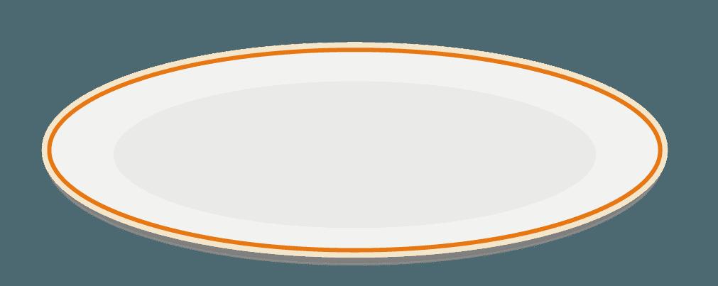 パスタのおしゃれなお皿のイラスト