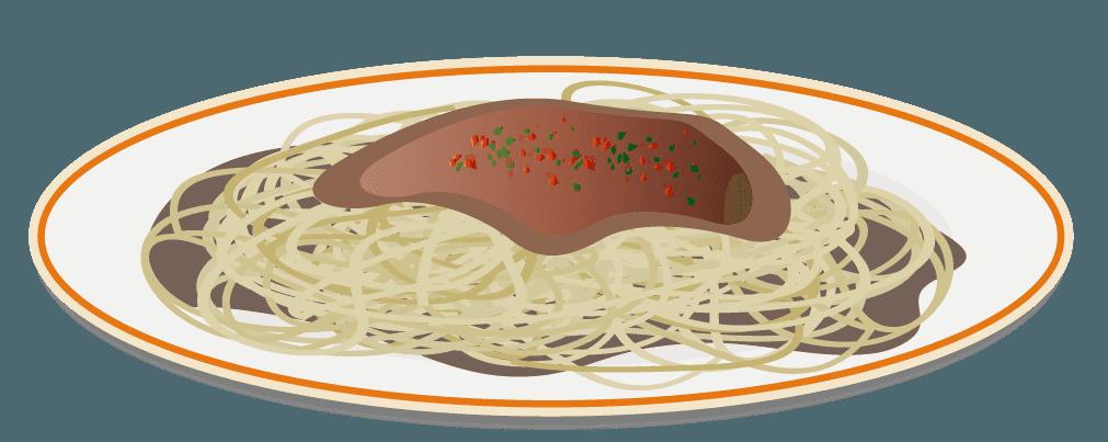 ミートソーススパゲッティーのイラスト