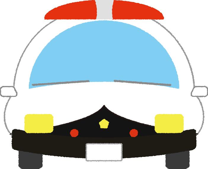 可愛いパトカーのイラスト(正面)