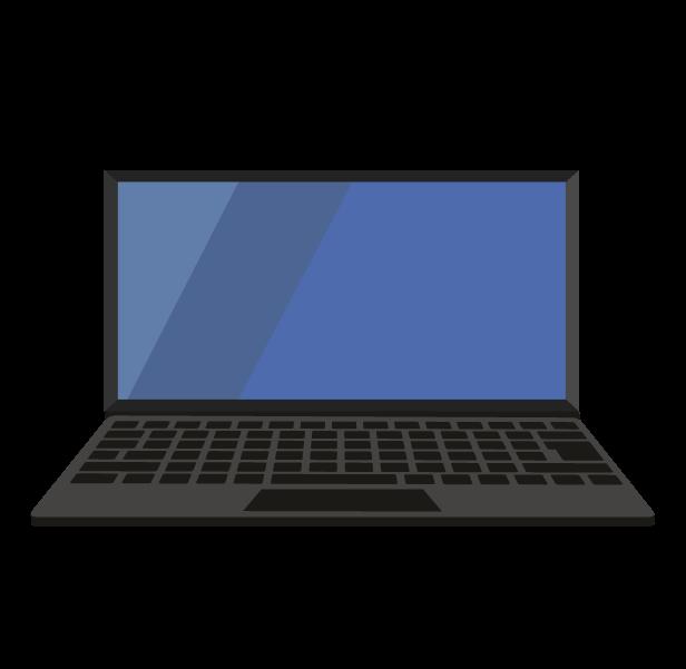 ノートパソコン(正面)のイラスト