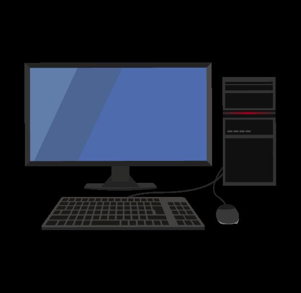 ディスクトップpcのイラスト