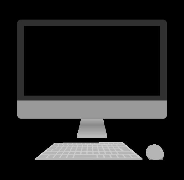 パソコン(mac風)のイラスト