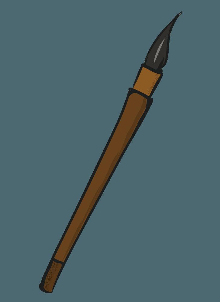 筆ペンのイラスト