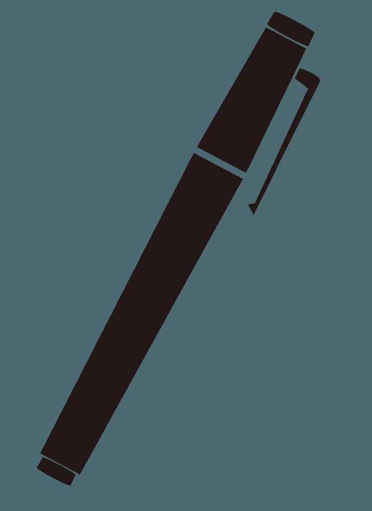 ペンのシンプルなシルエットイラスト