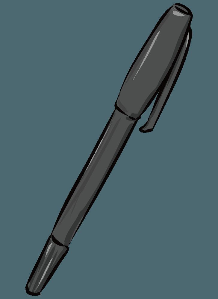 細いマジックペンのイラスト