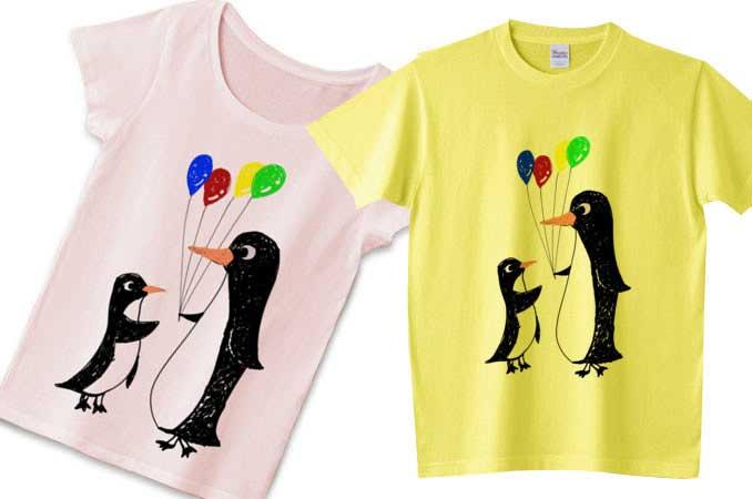 子供が描くペンギンTシャツ