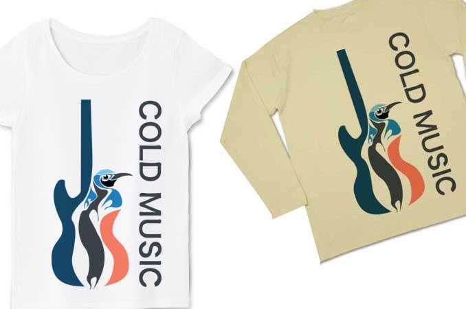 cold musicペンギンTシャツ