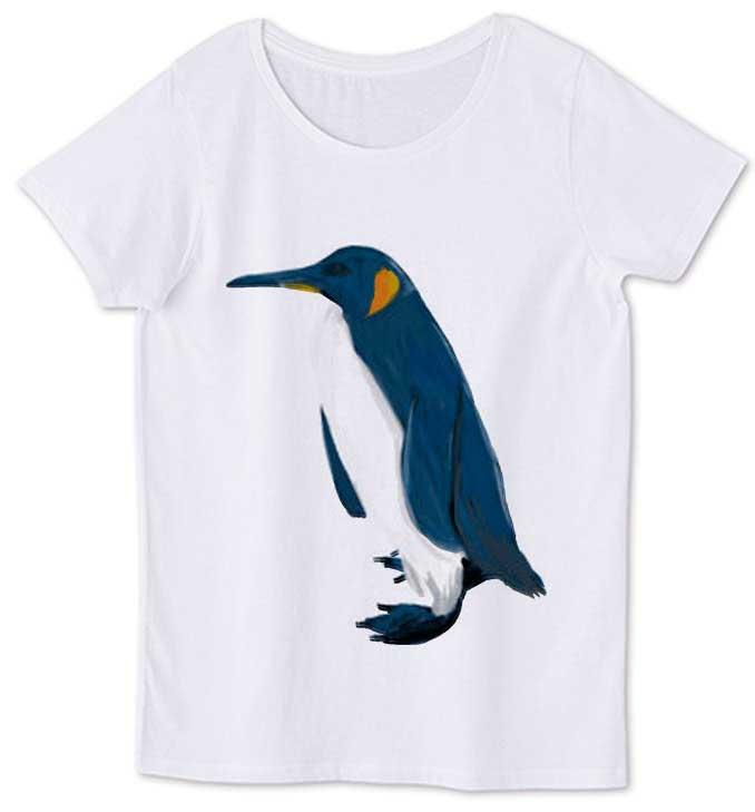 ペンギンの手書きイラストTシャツ