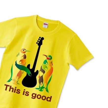 ベースとペンギンのロックTシャツ
