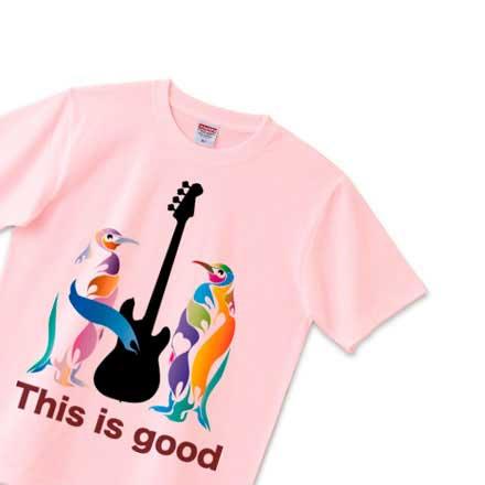 ンギン&ベースのピンクTシャツ