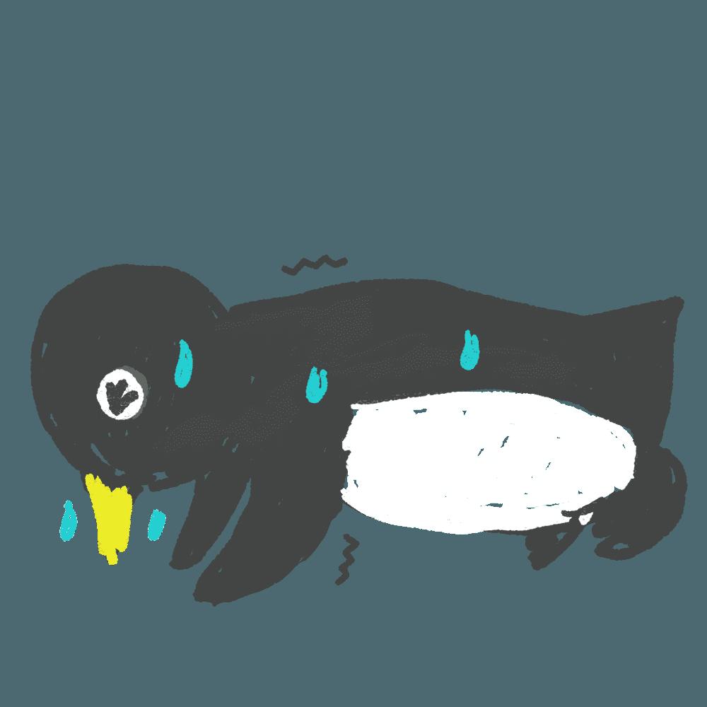 腕立てペンギンイラスト