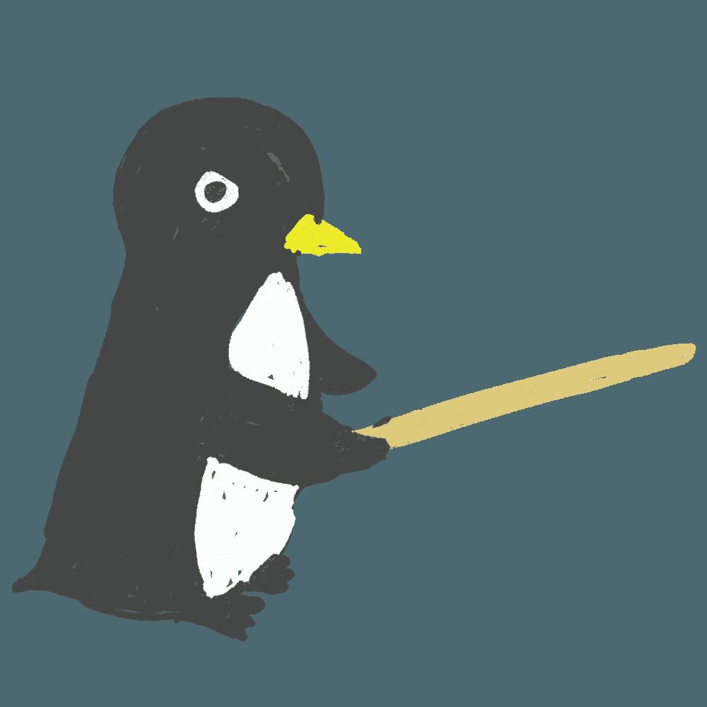 鬼コーチのペンギンイラスト