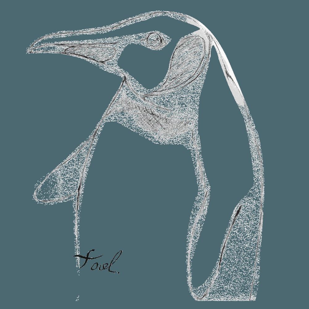 手書きのペンギンイラスト