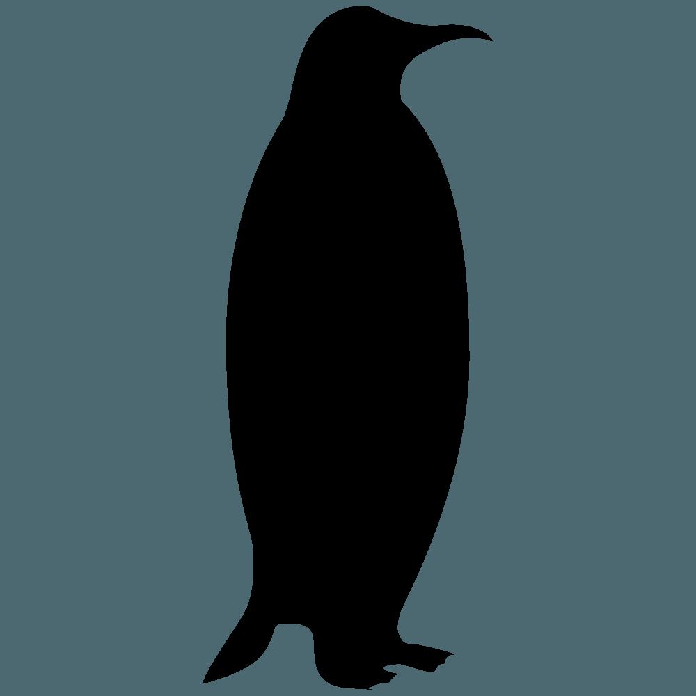 ペンギンのシルエット