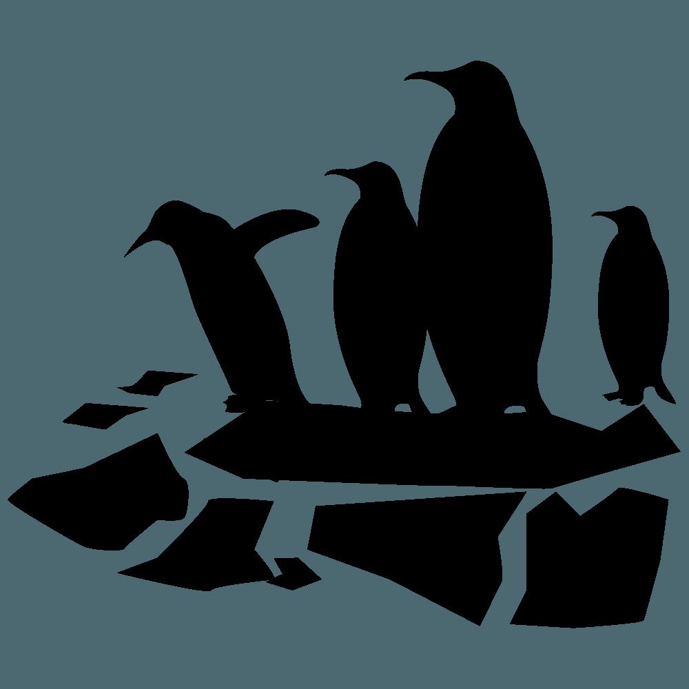流氷の上のペンギン