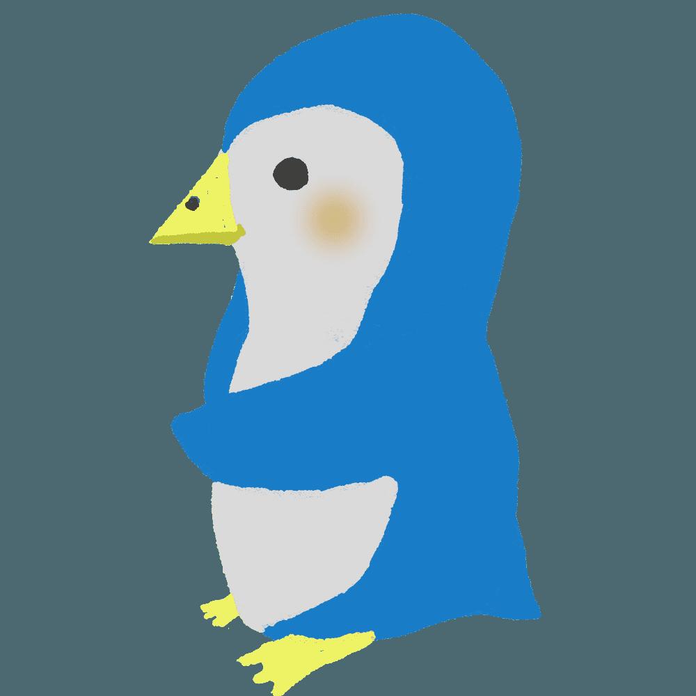 ペンギンキャラクター横向き