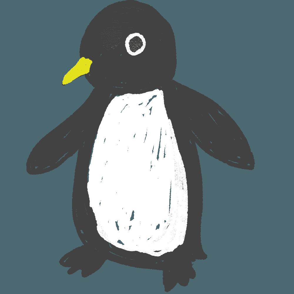 可愛いペンギンキャラ