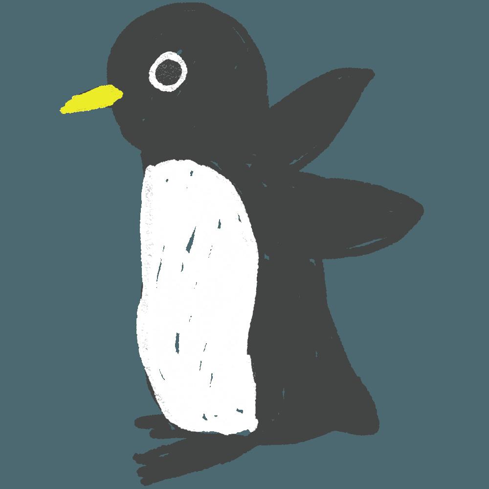 ラフなペンギンイラスト