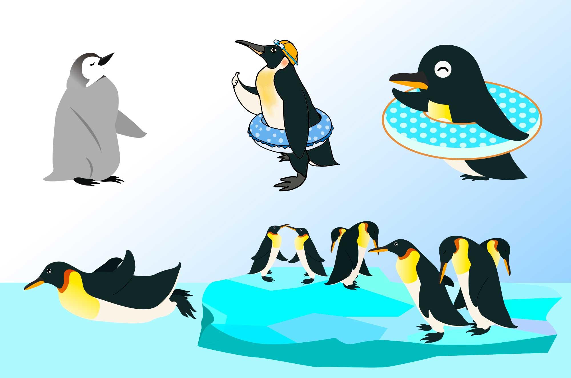 ペンギンのイラスト - シンプル可愛い動物フリー無料素材