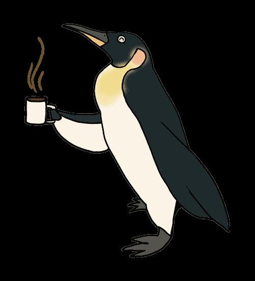 コーヒーペンギンのイラスト
