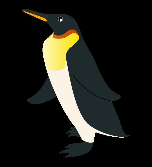 リアルなペンギンのイラスト