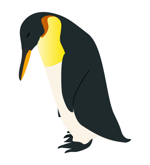 るペンギンのイラスト