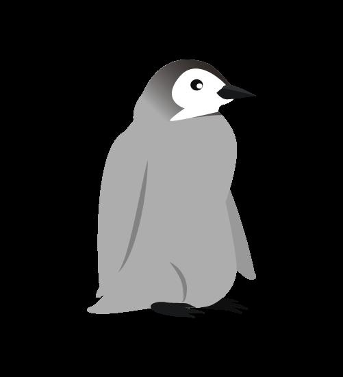 かわいいペンギンの子供のイラスト