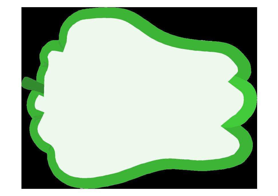 ピーマン型のフレーム(972×684)