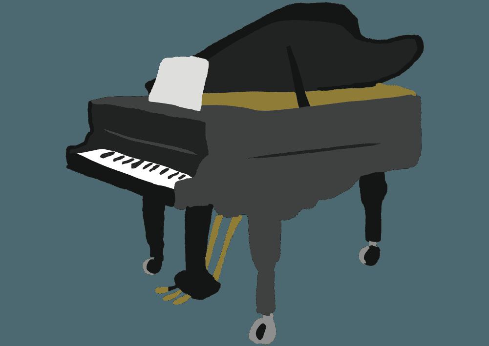 可愛いピアノのイラスト