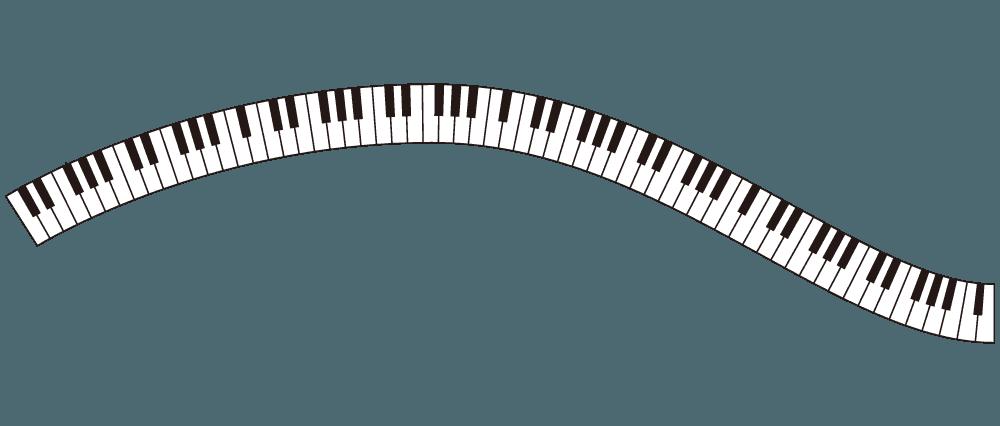 歪んだ鍵盤のラインのイラスト