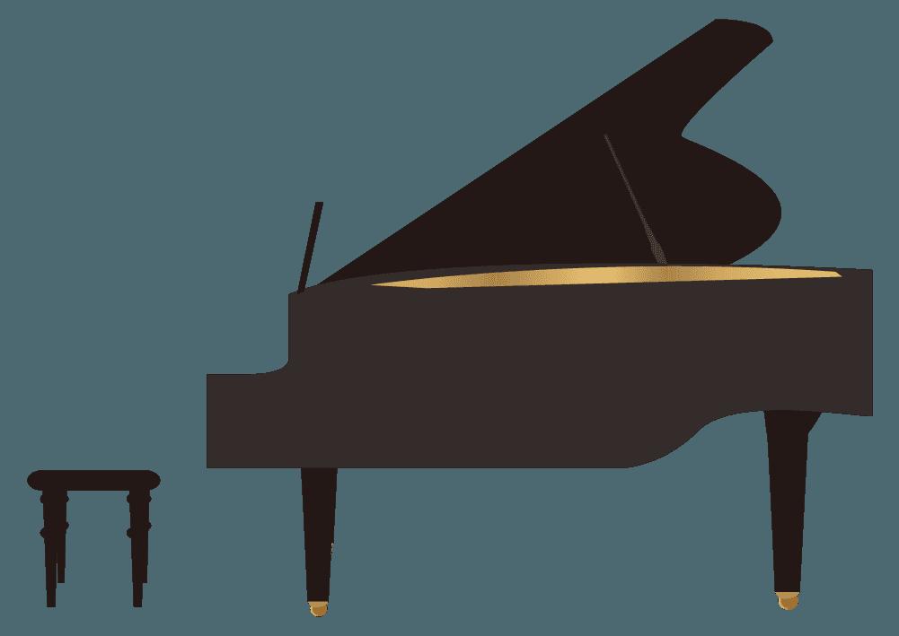 横から見たグランドピアノのイラスト