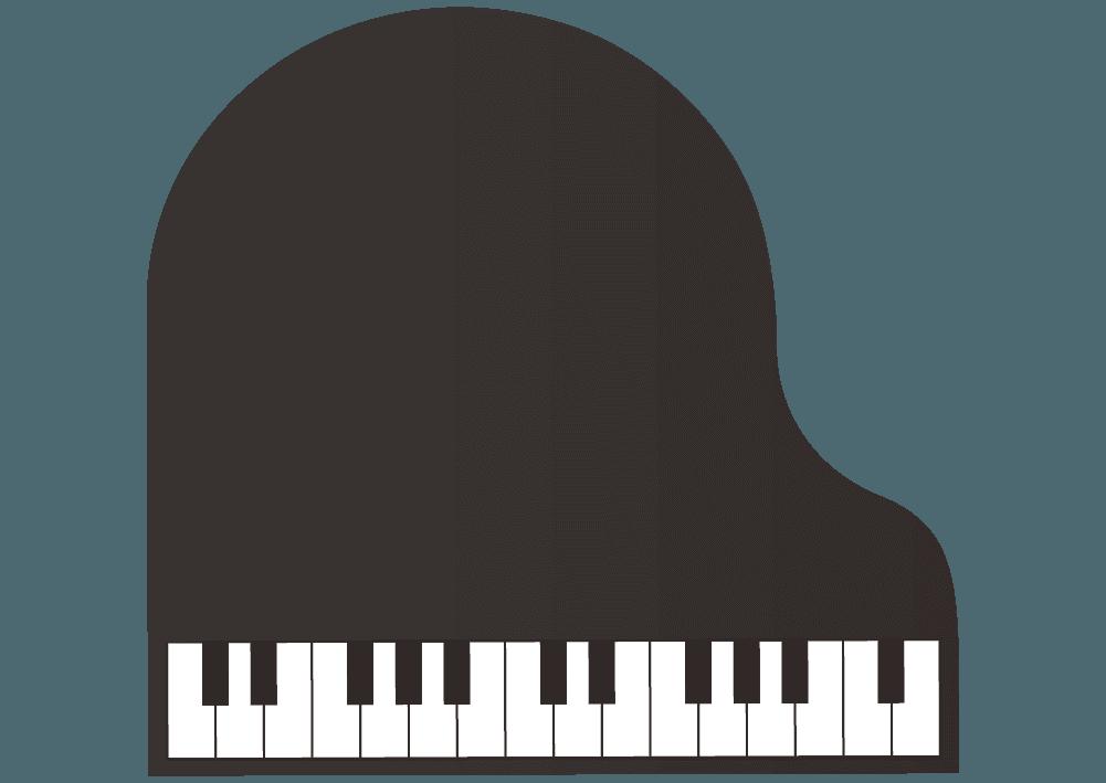 シンプルな上から見たピアノのイラスト