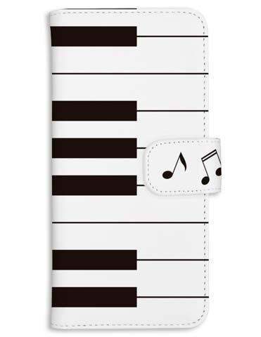 可愛いピアノの鍵盤柄のiphone・スマホケース
