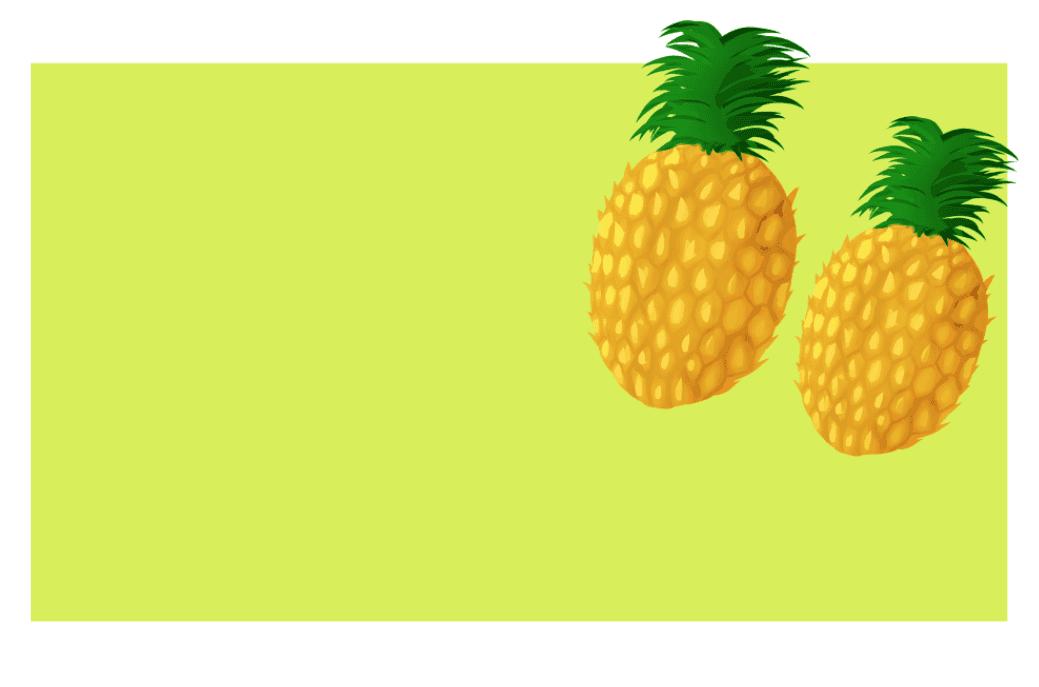 photoshopフィルターで簡略されたパイナップルのイラストを配置